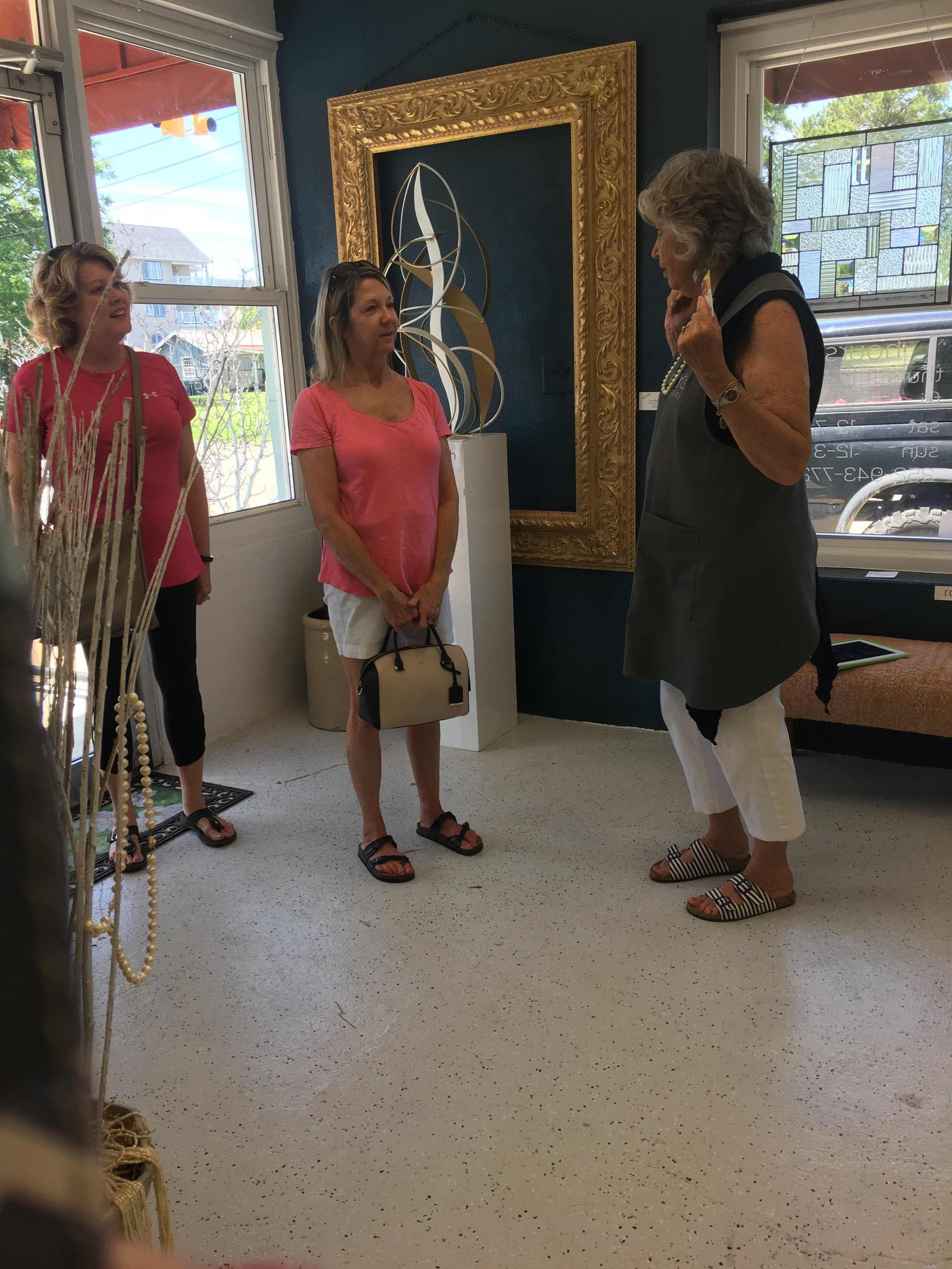 Father's Day Upcycle Event  Saturday, July 15, 2019  Visitors to the gallery during the event!