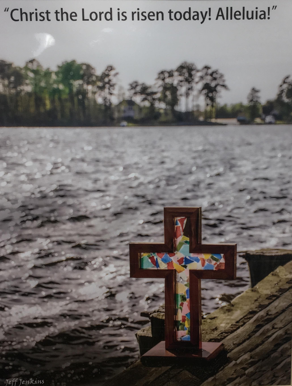 "River Cross, 11""x 14"", unframed photography, $35"