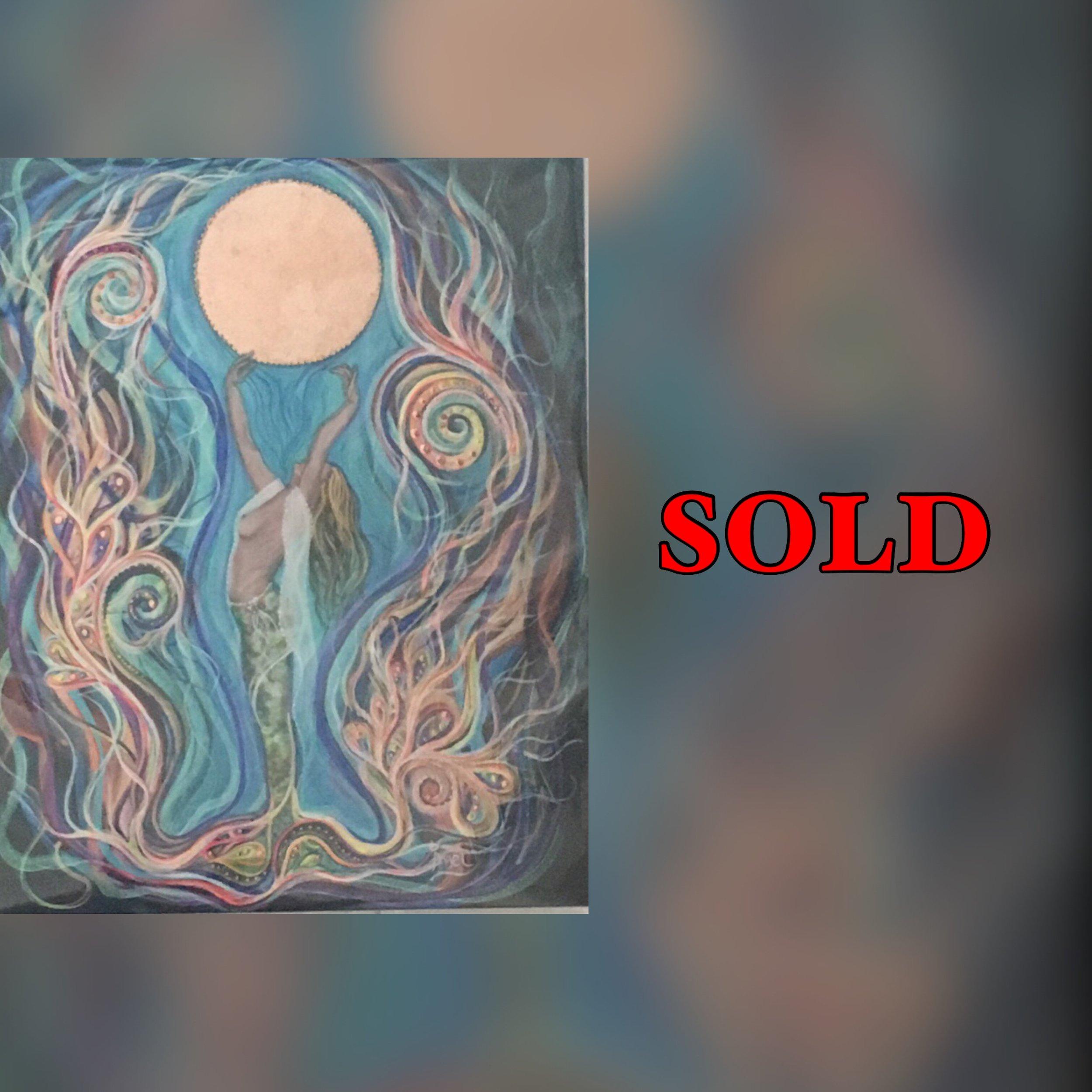 "Moon Dance, 10""x 8"", print, SOLD"