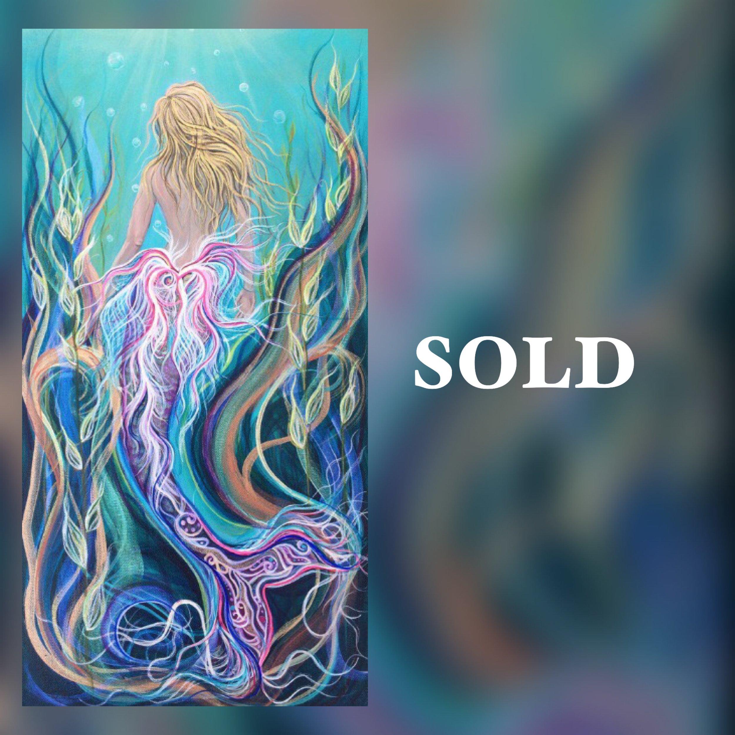 Sassy Mermaid, print, SOLD