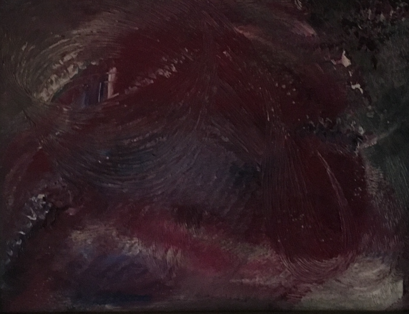 """Abstract #7 (Deep Red), 19"""" x 15"""", oil, $350"""