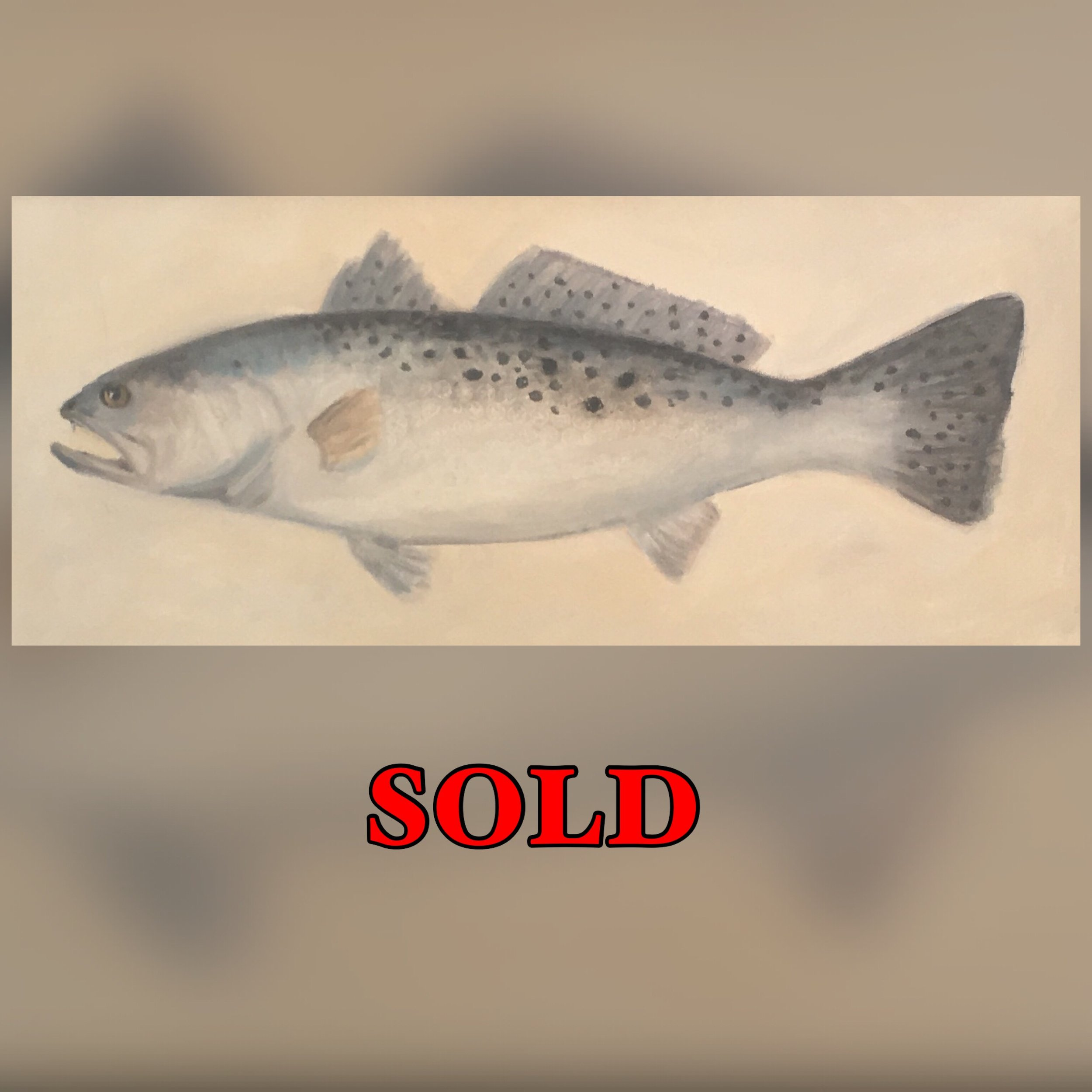 Trout, 12 x 24, Oil, SOLD