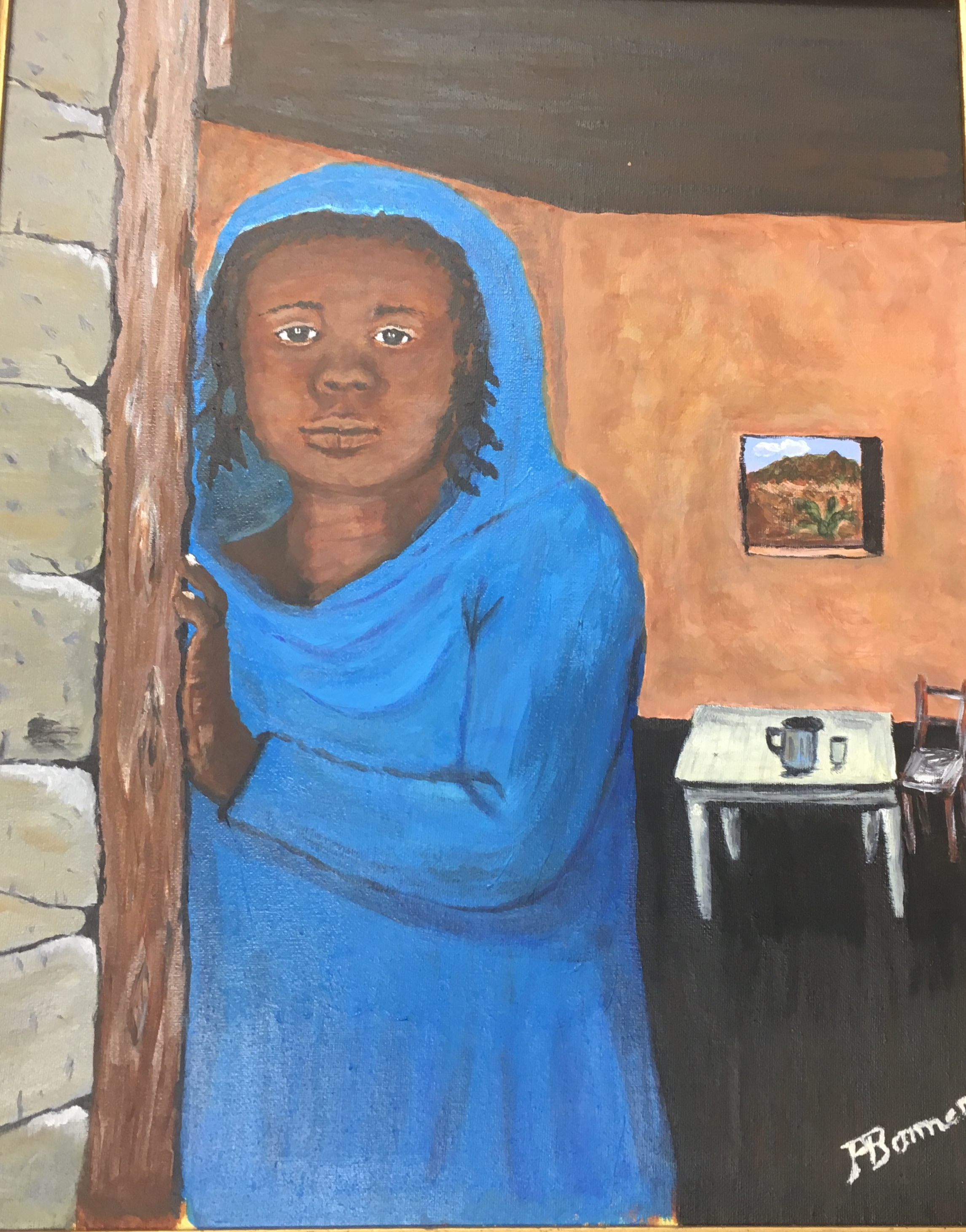 African Girl, 16 x 20, acrylic, $225