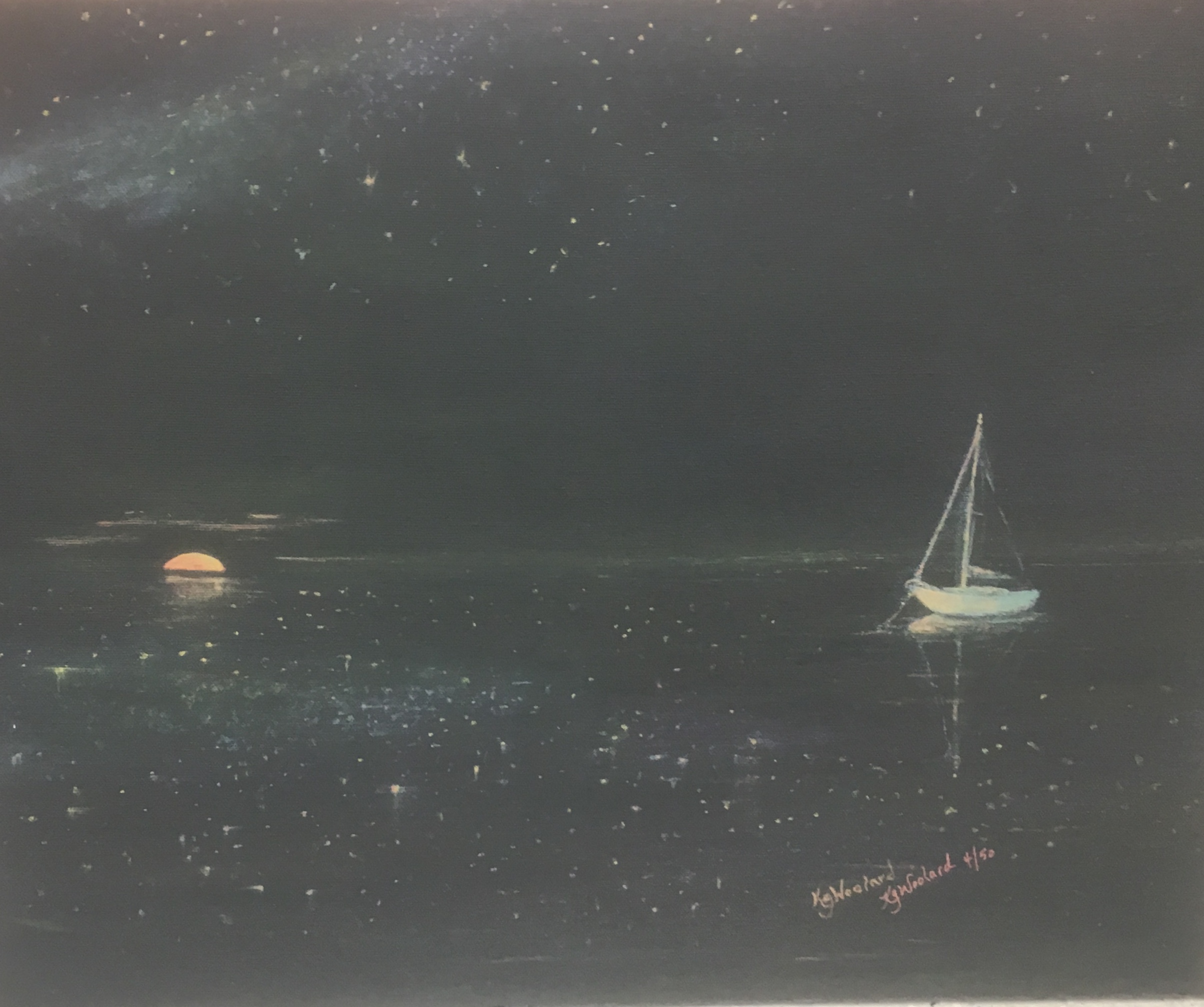 Stars on the Water, 16 x 20, canvas giclee, $180