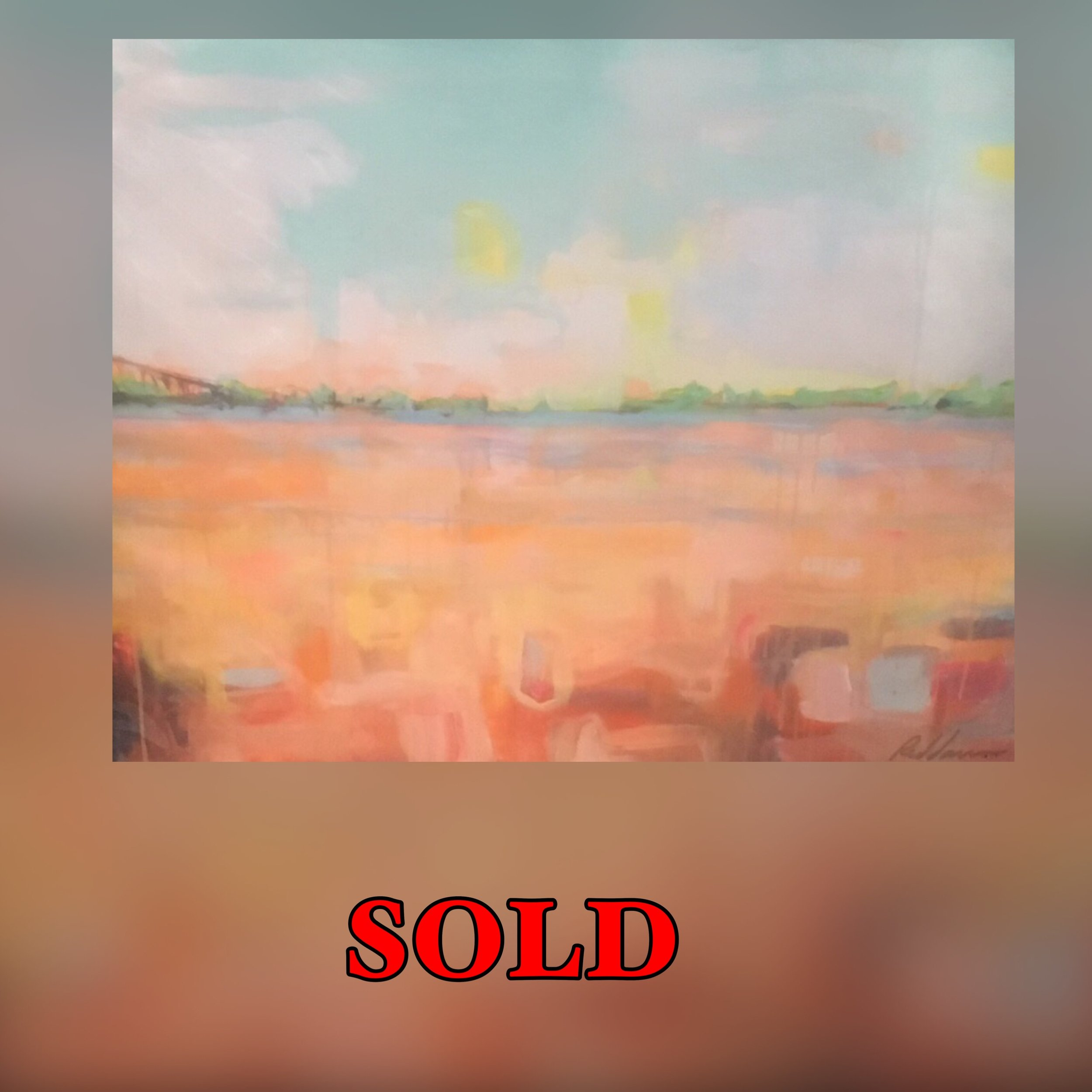 "Bridge Abstract, 11""x 14"", print, Sold"