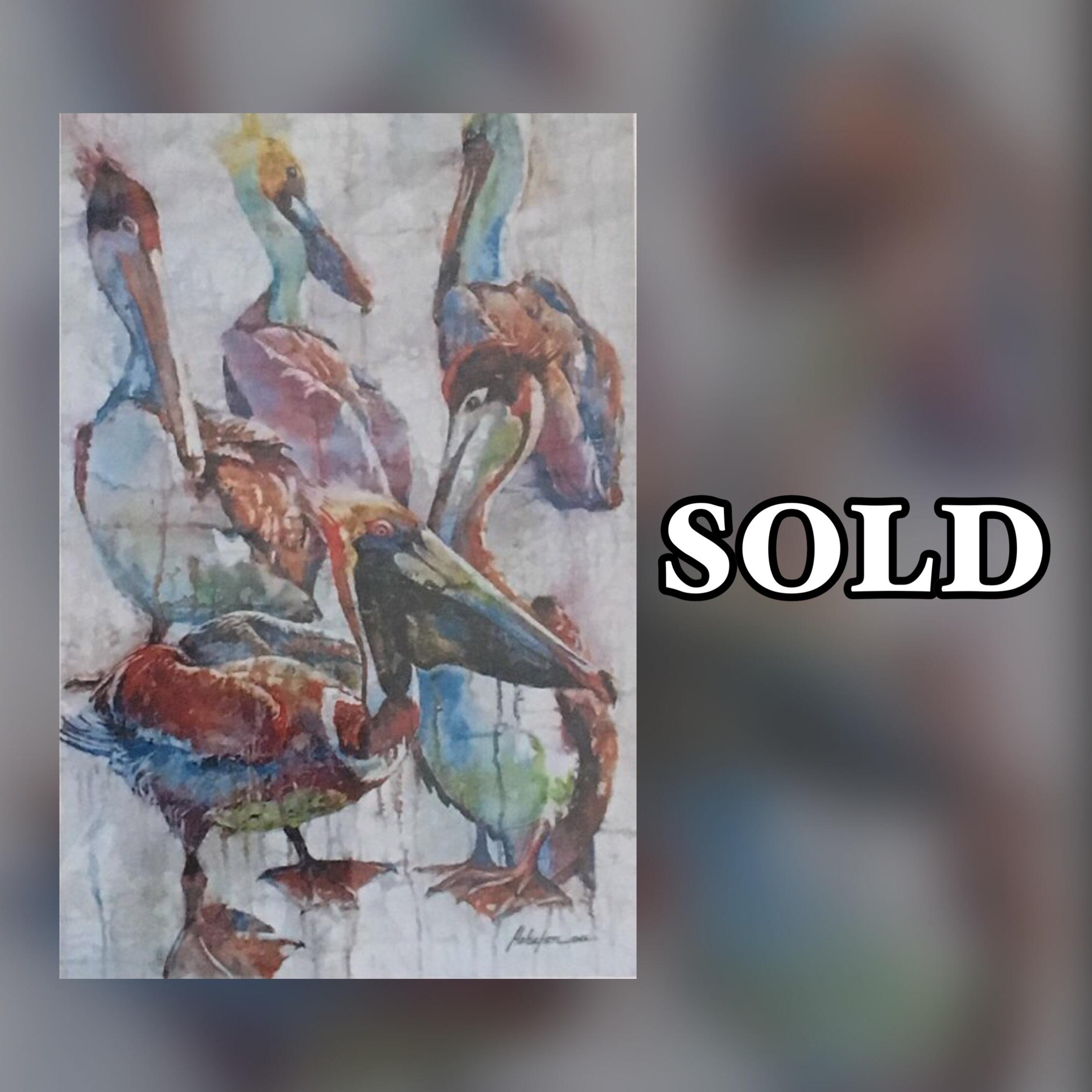 "Pelican, 11"" x 17"", Print, SOLD"