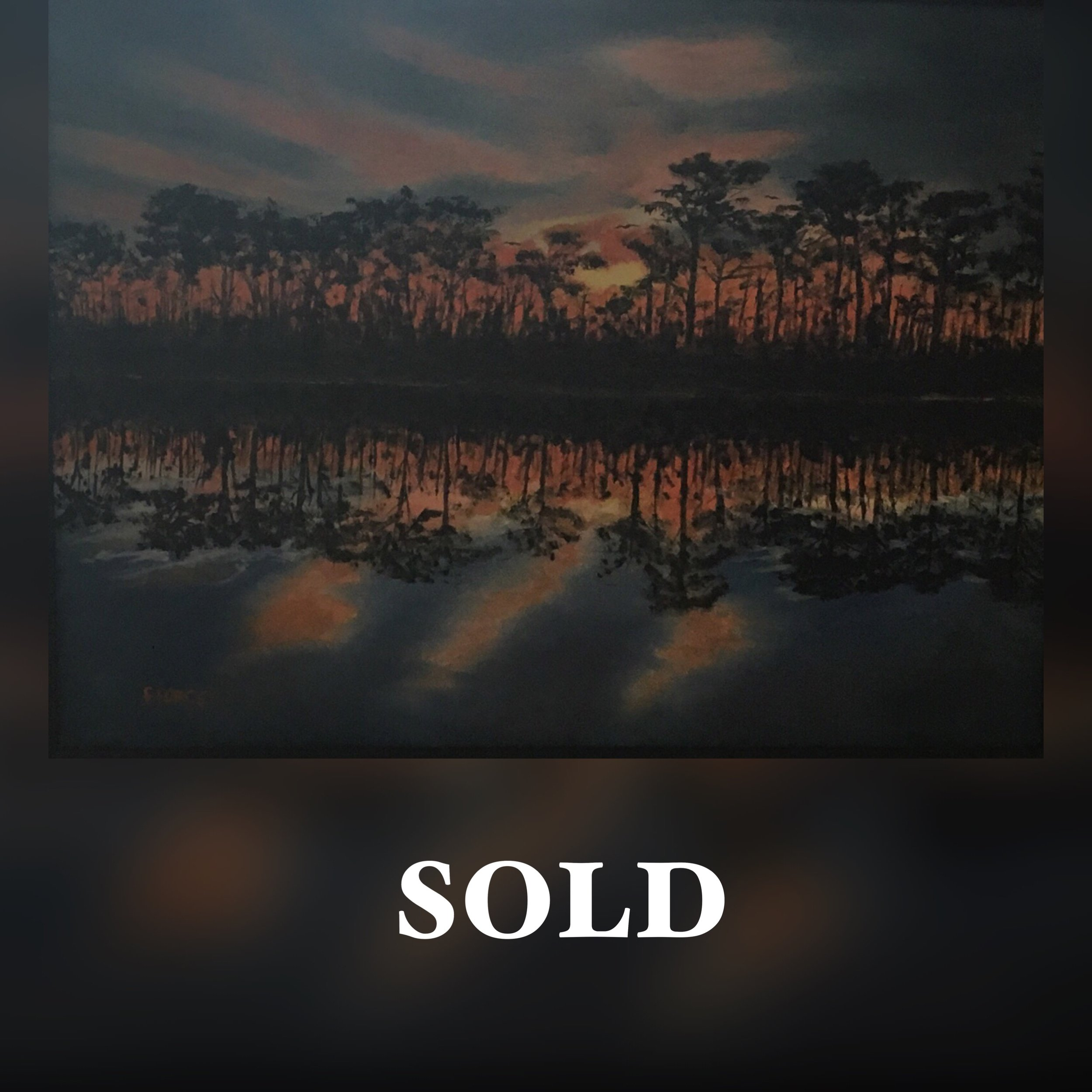 Sunset in Trees-Force Sold.JPG
