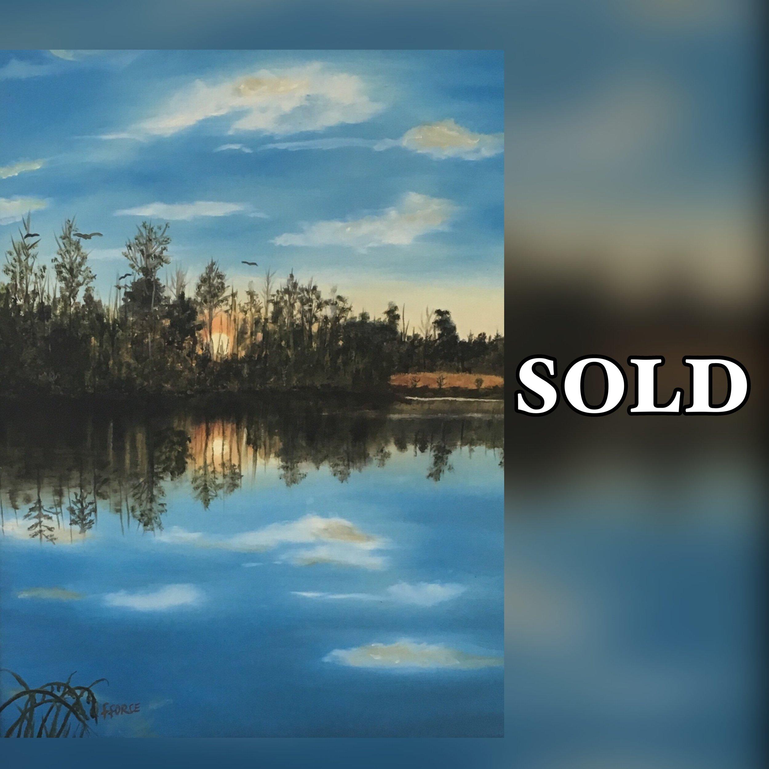 Frances Sunrise in trees Sold.JPG