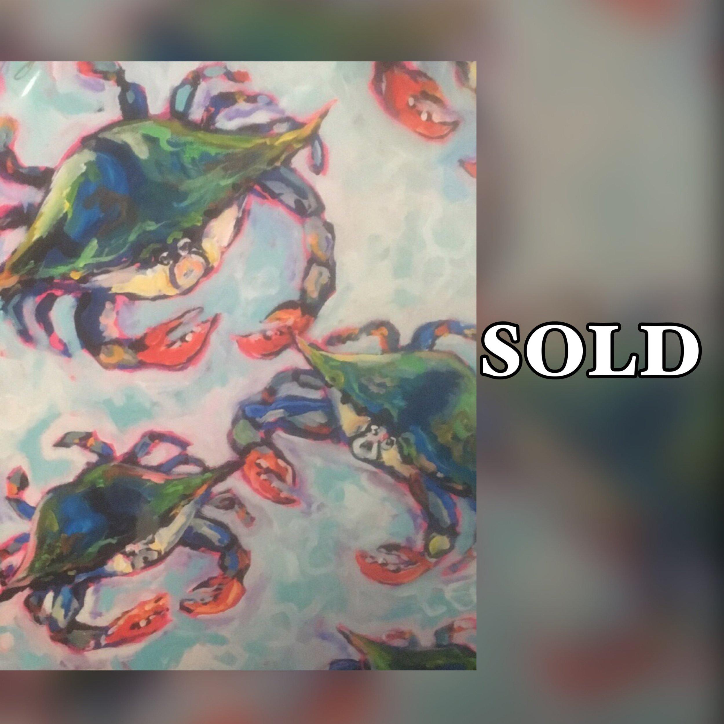 "Crab Mosiac, 11""x 14"", print, SOLD"