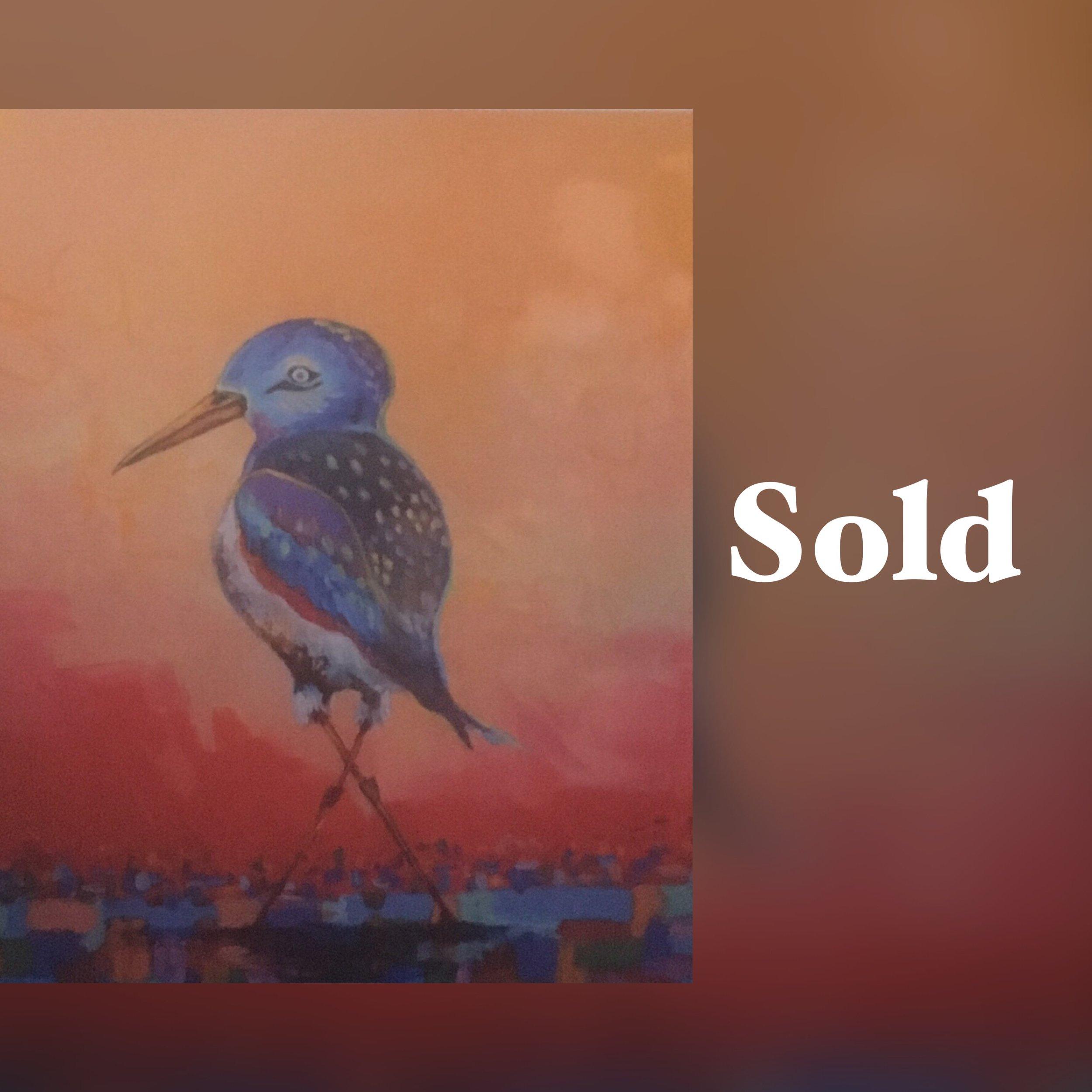 Lone Birdie, 11 x 14, Print, SOLD