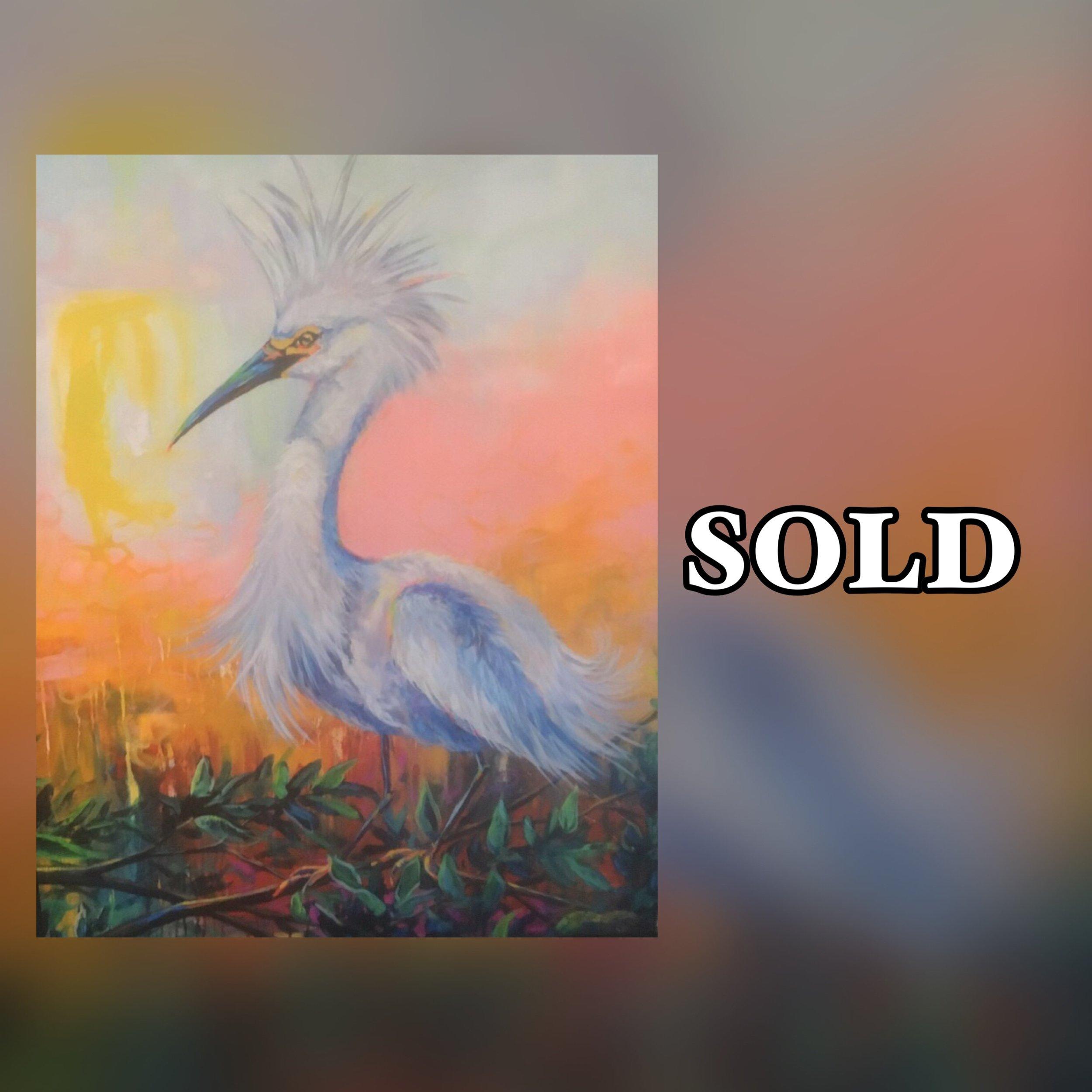 "Wild Bird, 11""x 14"", print, SOLD"