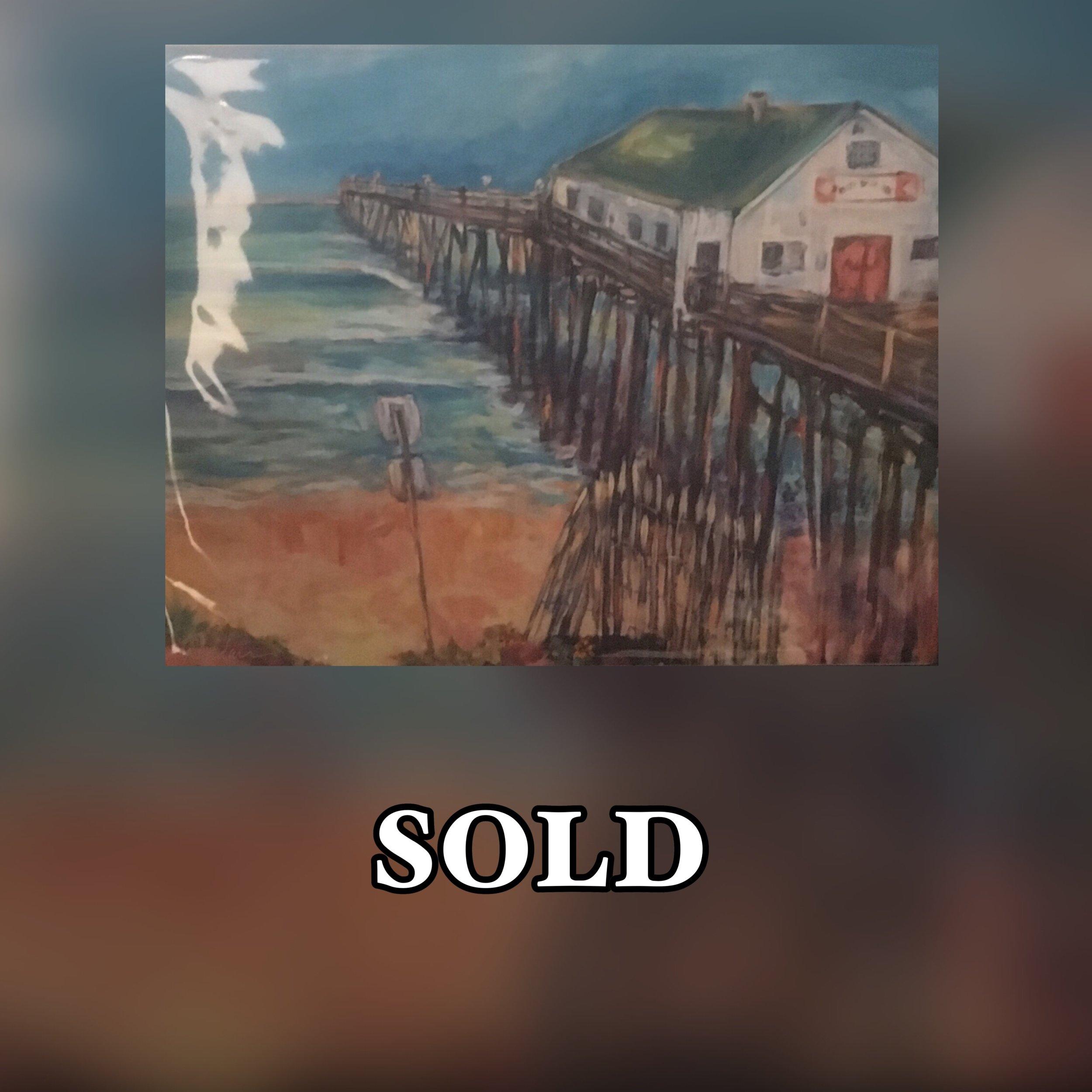 Fishing Pier, 11 x 14, Print, SOLD