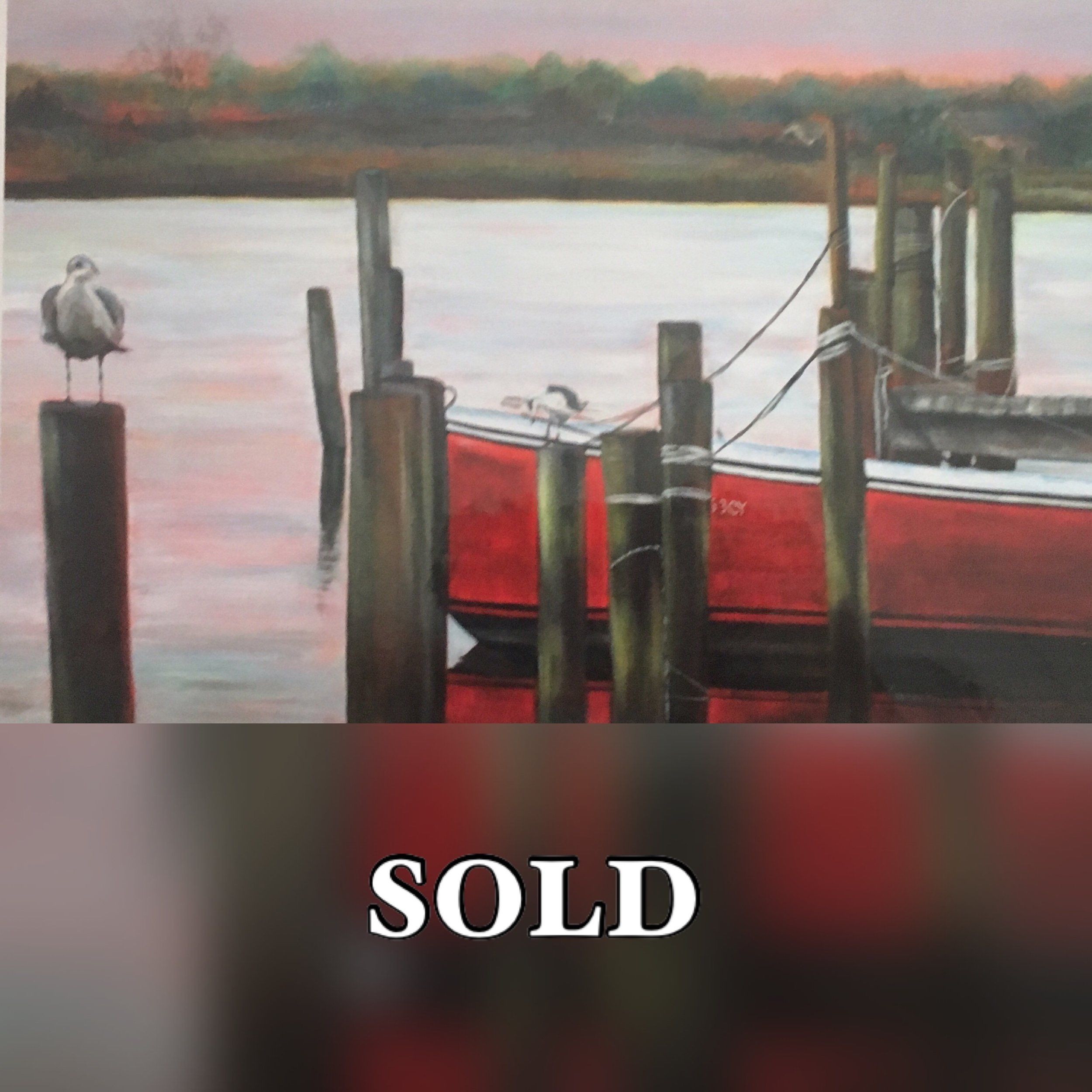 The Red Boat Print Sold.JPG