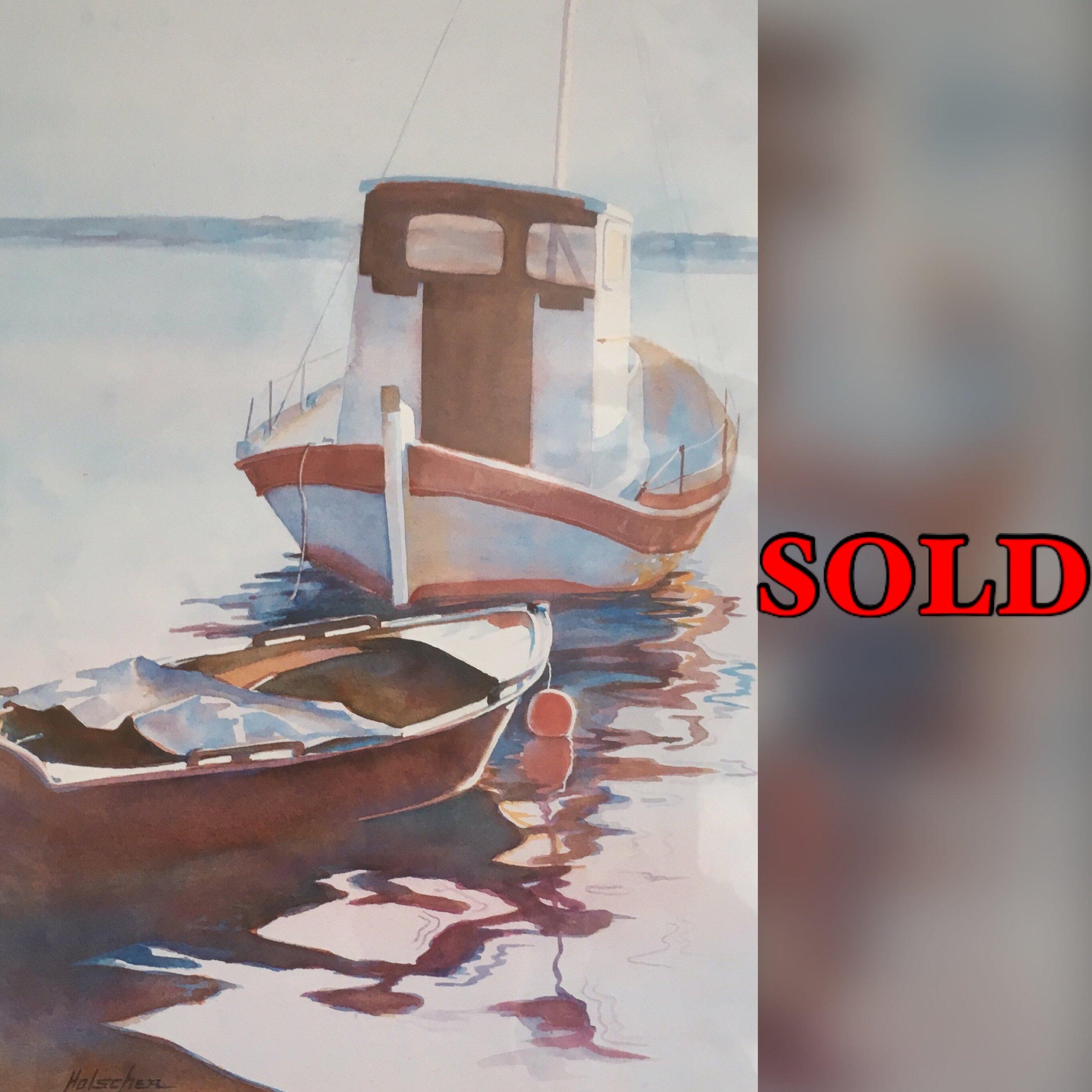 "Calm Beginnings, 16"" x 23"", Watercolor (Print), SOLD"