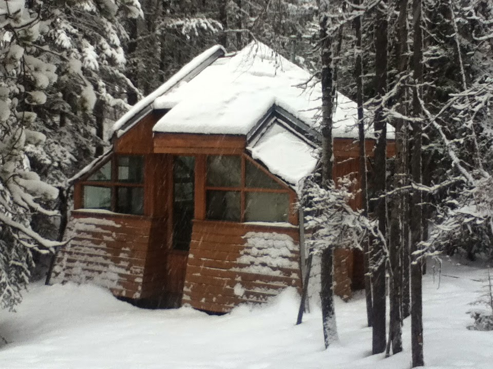 My cabin in the Leighton Artists' Colony at the Banff Centre for the Arts