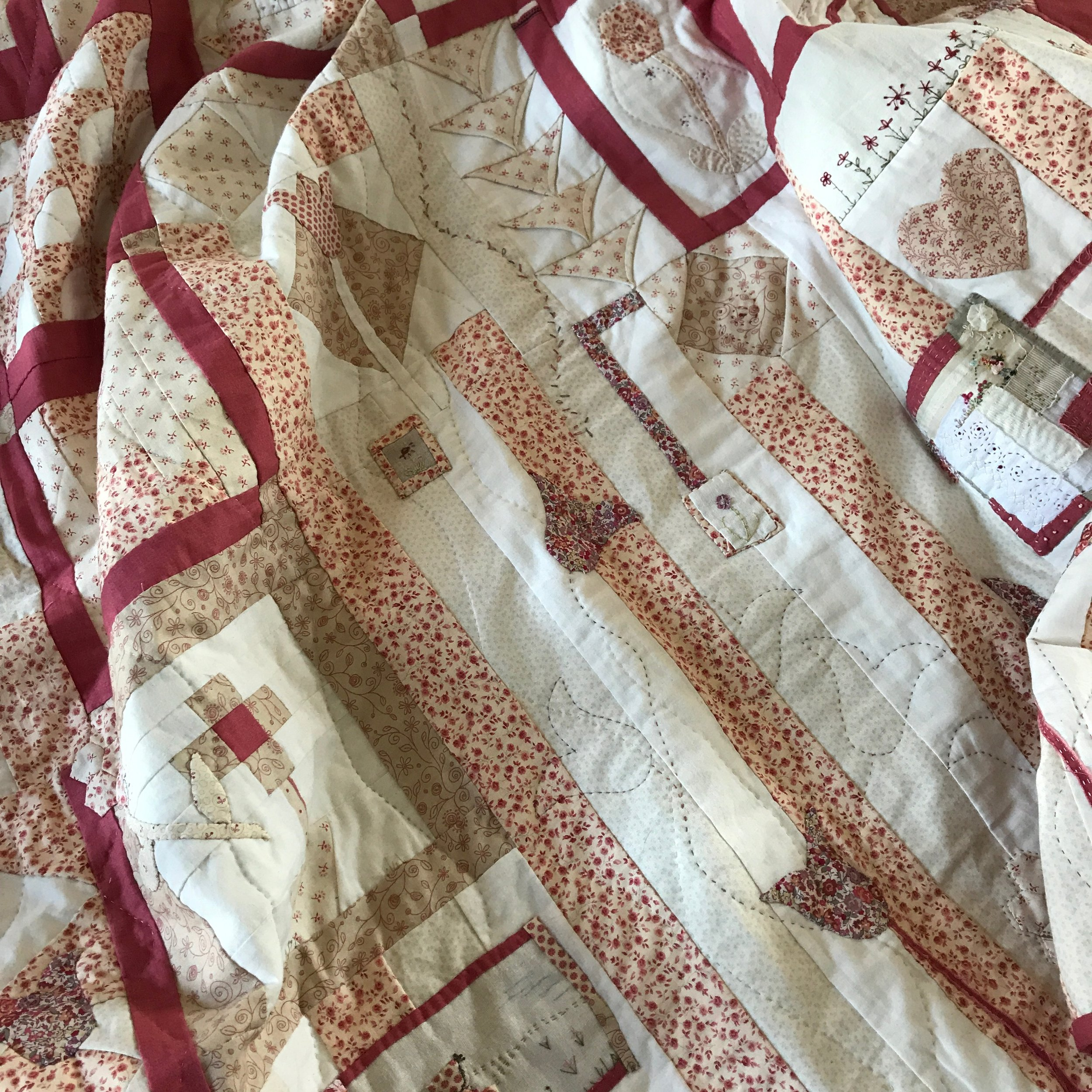 Patchwork. Quilting. Hand stitching. Workshops. Embroidery.