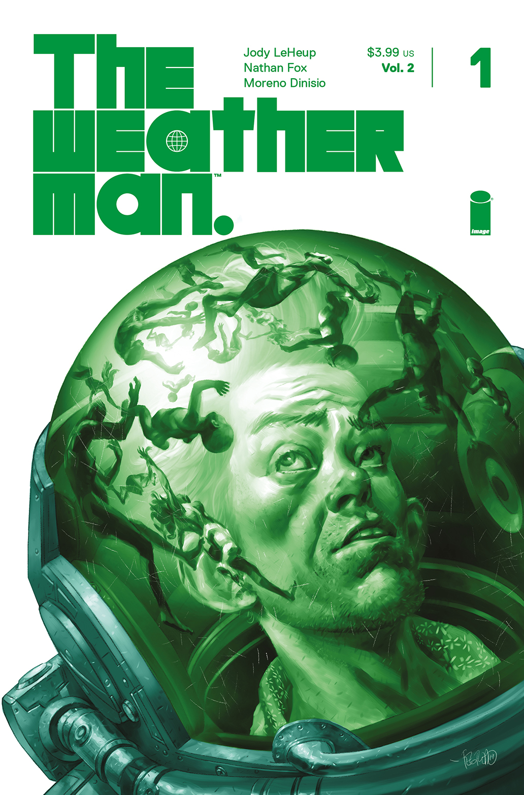 The Weatherman, Vol. 2 #1 variant by Duncan Fegredo