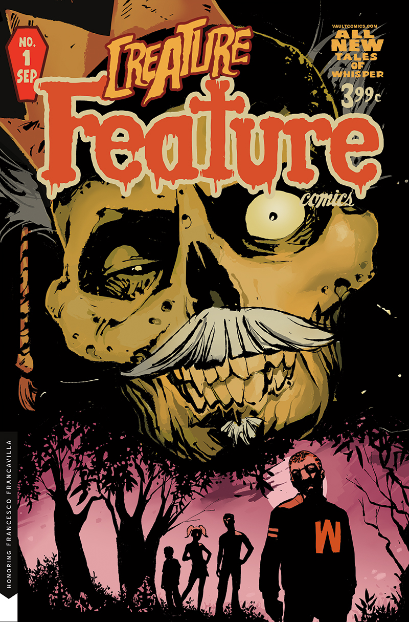 Cult Classic: Creature Feature #1   will debut with a Vault Vintage B Cover honoring Francesco Francavilla's iconic cover for  Afterlife with Archie #1  (Archie Comics, 2013).