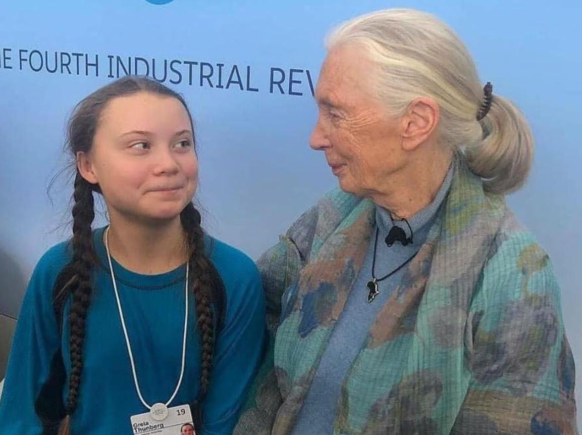 Greta Thunberg and Dr. Jane Goodall