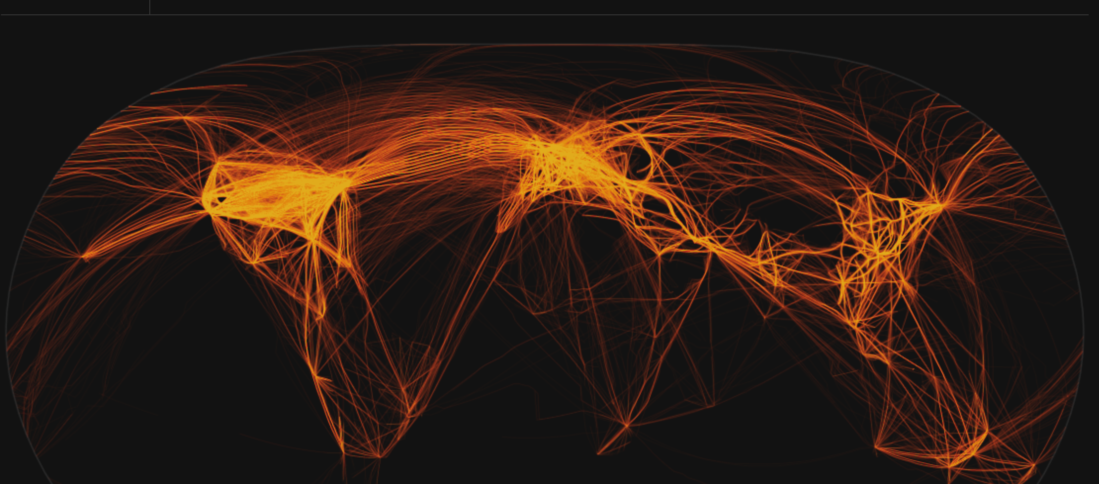 Image of more than 100,000 flights globally per day, courtesy of:  https://www.flightradar24.com