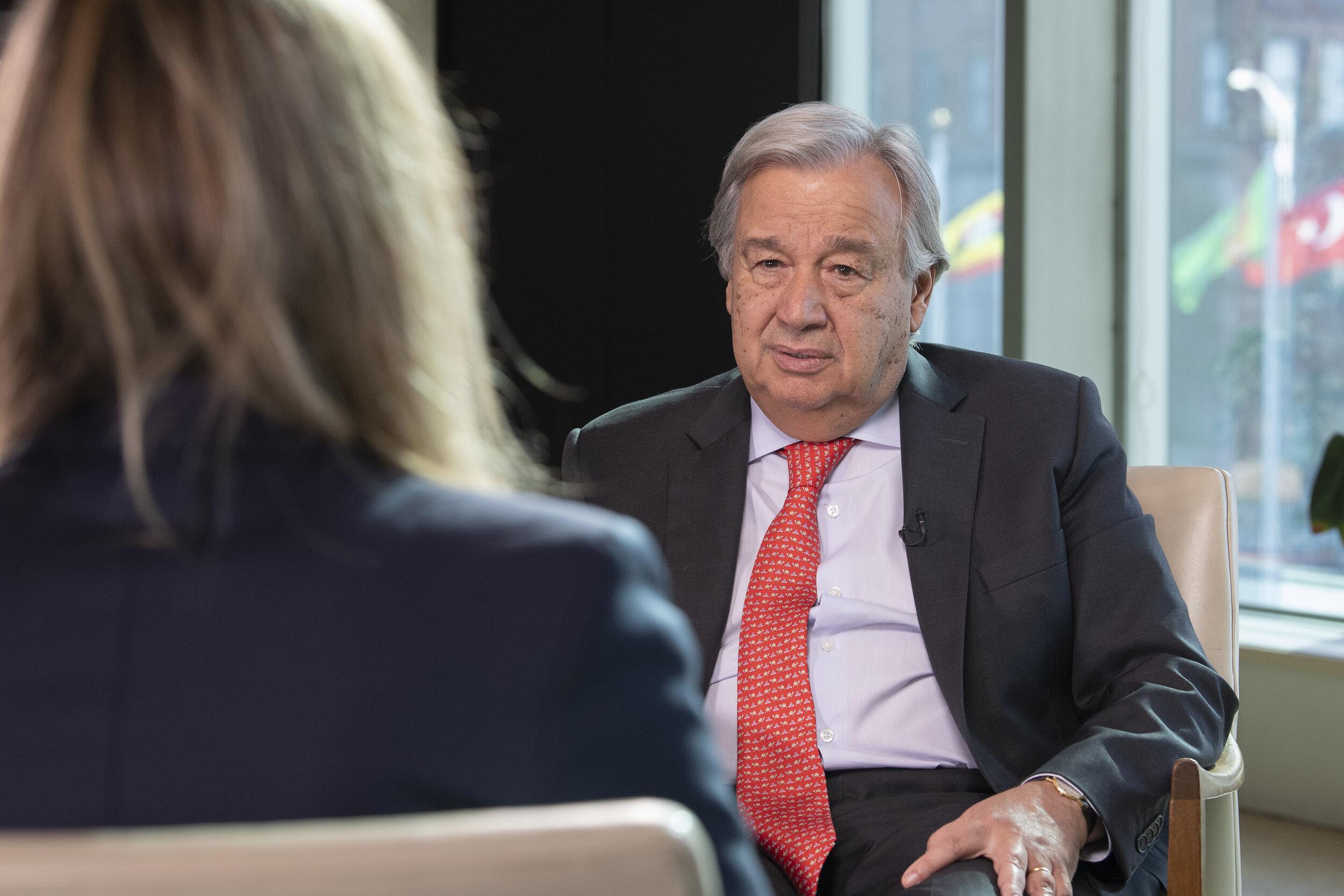 UN Secretary General Antonio Guterres. Photo credit: Covering Climate Now