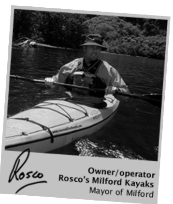 Rosco Sea Kayaking advertising with Romer App