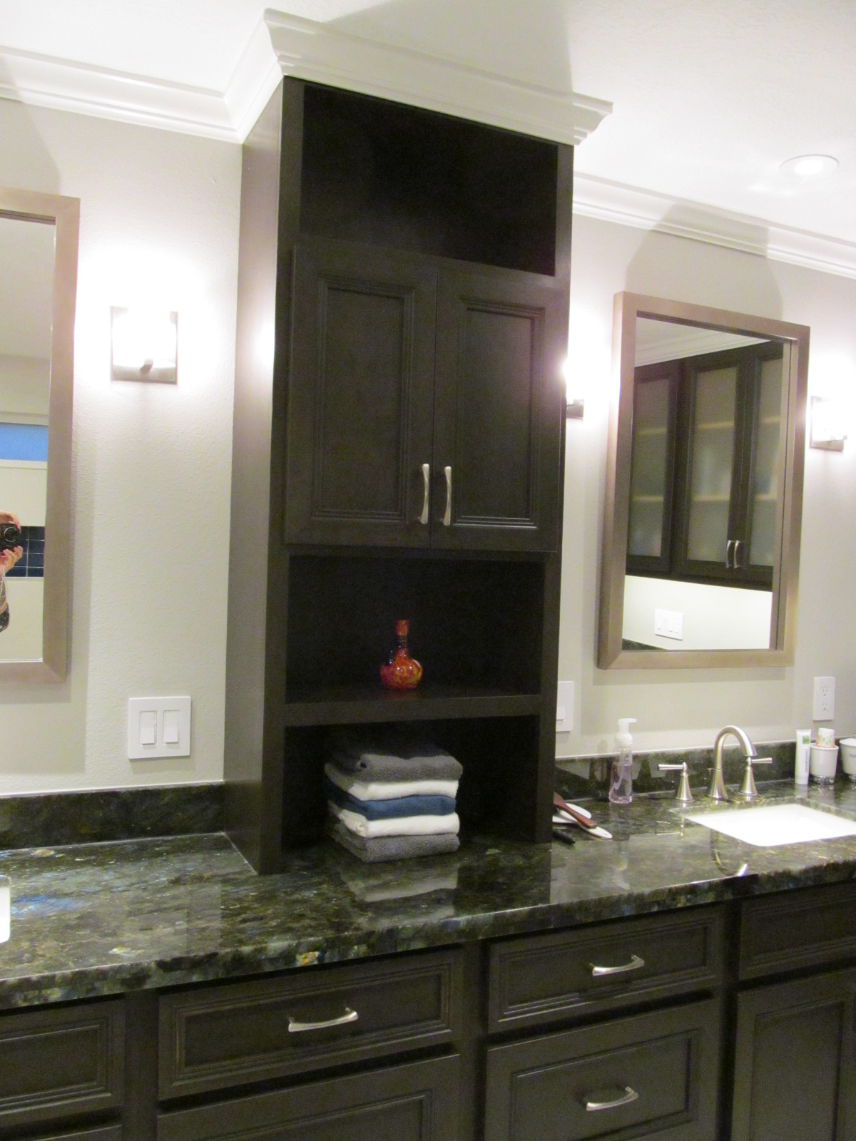 Cabinet tower is perfect for the space.JPG