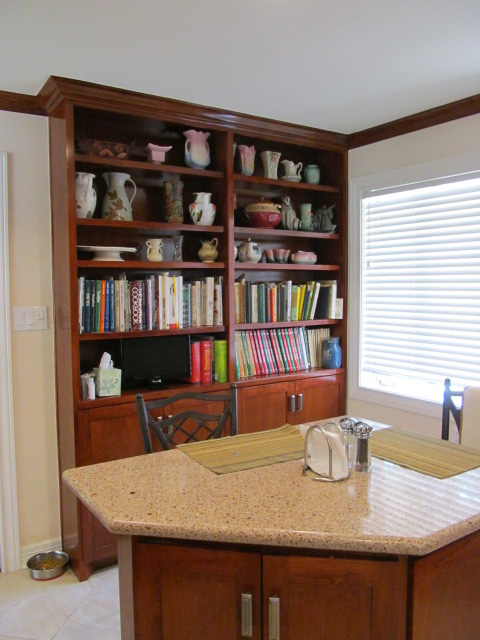 The bookcase and island were new features.   Island was designed to work in a small and tight .JPG