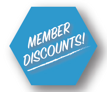 Membership Pays! - Members enjoy discounts up to 20% off retail items such as branded merchandise, cycling shoes and equipment and 50% off edible items and beverages. Bottled water is $1 & Cycling shoe rental is now only $2.