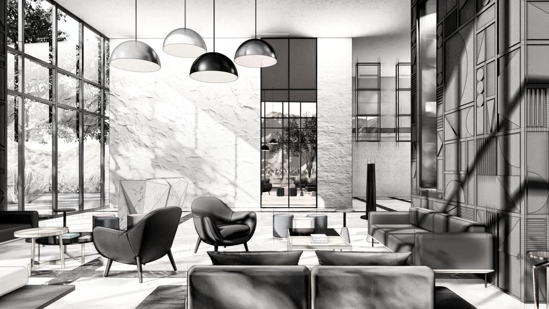 Recorre uno de nuestros dos Lobbys en Balzac® con diseño exclusivo de Atrio Interiores (Paty Durán) - Da click Aquí