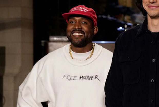 Kanye West wearing a Trump Hat and a Colin Kaepernick shirt. With the goal of uniting the country by inviting Collin to to the White House, so both sides could make peace.