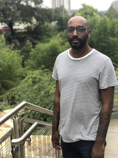 Travis Tate is a queer, black playwright, poet and performer from Austin, Texas. Their poetry has appeared in  Borderlands:Texas Poetry Review ,  Underblong , Mr. Ma'am , and upcoming in  the Shade Journal and  apt . They are a finalist for the Cosmonauts Avenue 2018 Poetry Prize.Their one-person drag show,  It's a Travesty! One Night with Jazzie Mercado!  was presented at the Cohen New Works Festival (2017) and at Salvage Vanguard Theater's Three-Headed Fest in November 2017. Their play  MotherWitch  was featured as a part of the 2018 UTNT (UT New Theatre).