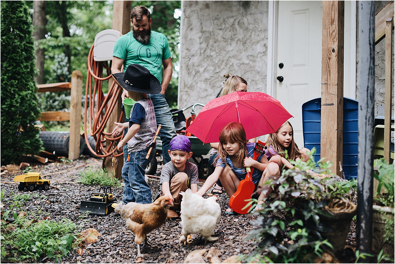 Rainy Day Family Photos
