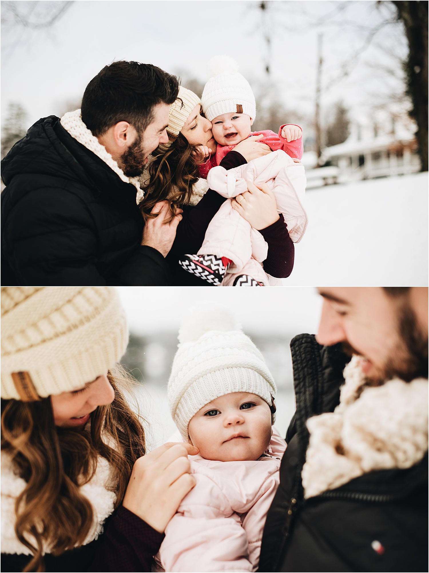 December Family Photos in Snow