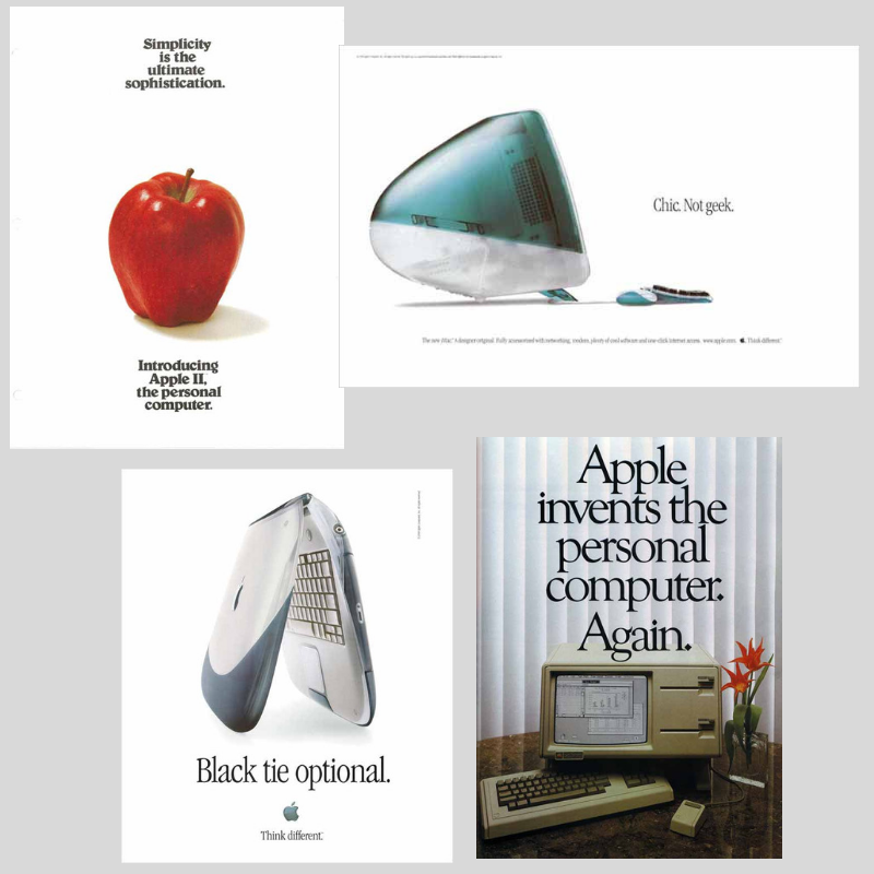 Big Boy #6: - Company: AppleBrand Voice: Minimalist and EliteWhat you can learn from them:🔵 Speak your message in the fewest and simplest words possible 🔵Other than some anomalies back in the 80s, Apple has embraced minimalism with a passion - and boy has it succeeded.