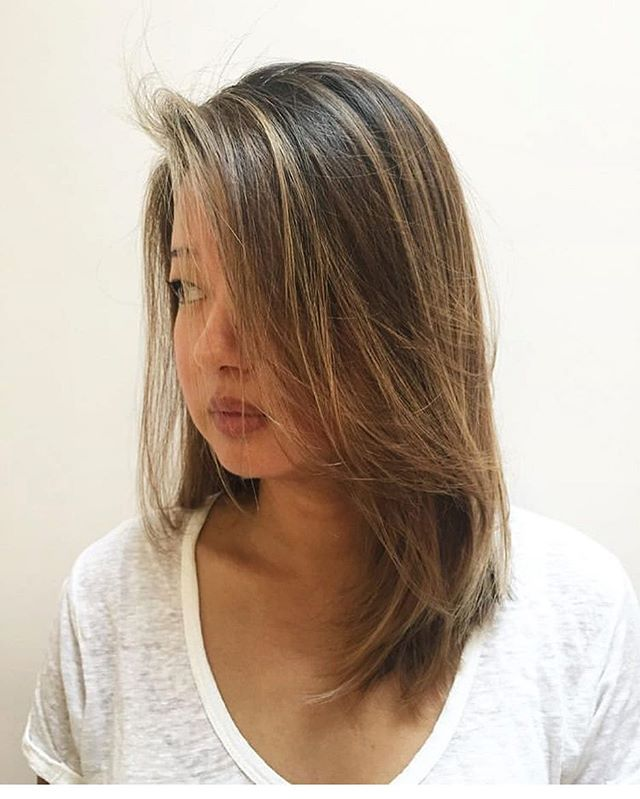 Even with natural dark brown or black hair, blond can look natural. Trust in the process.... #balayageartists