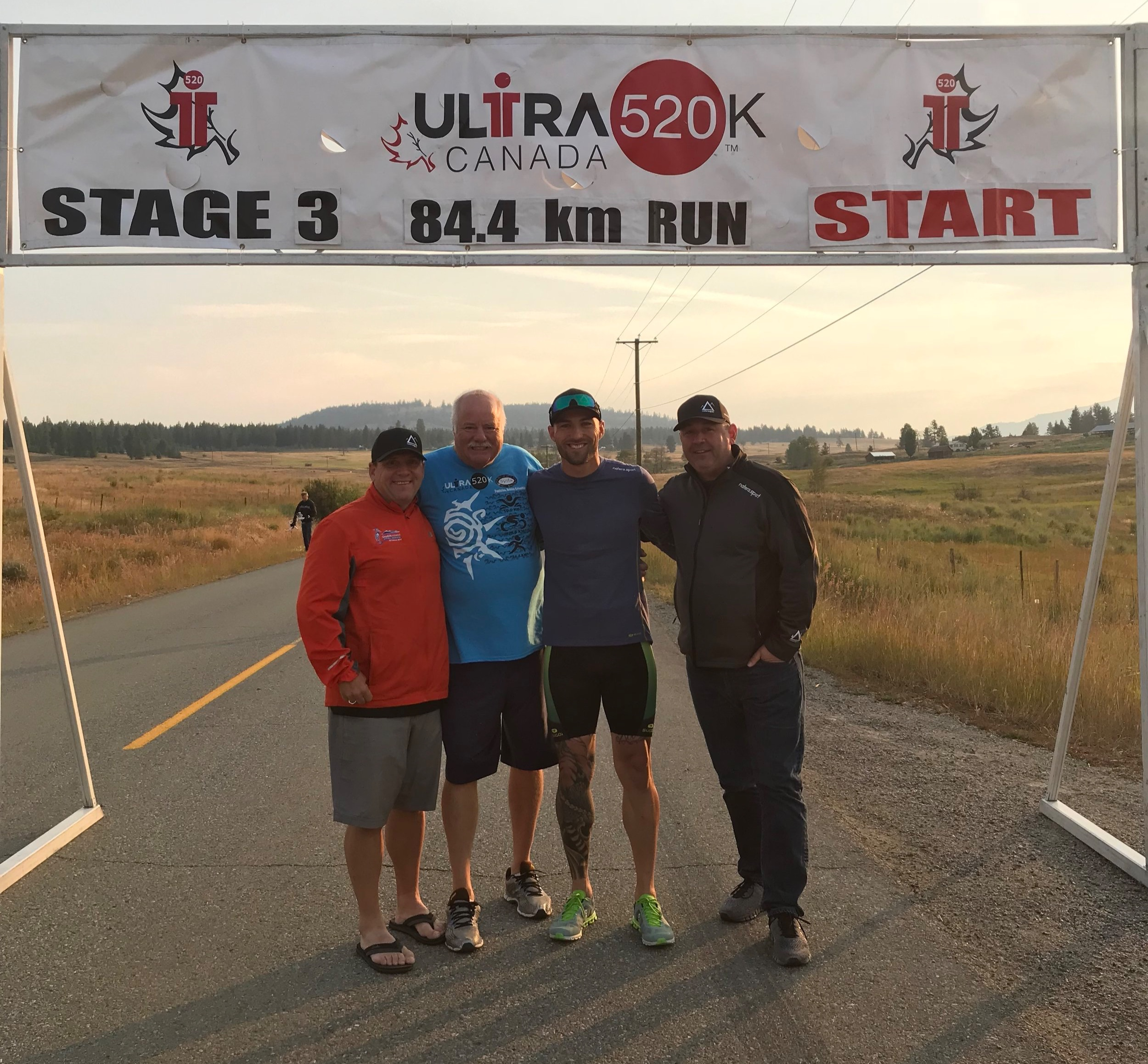 Start of the double marathon from Princeton to Summerland.