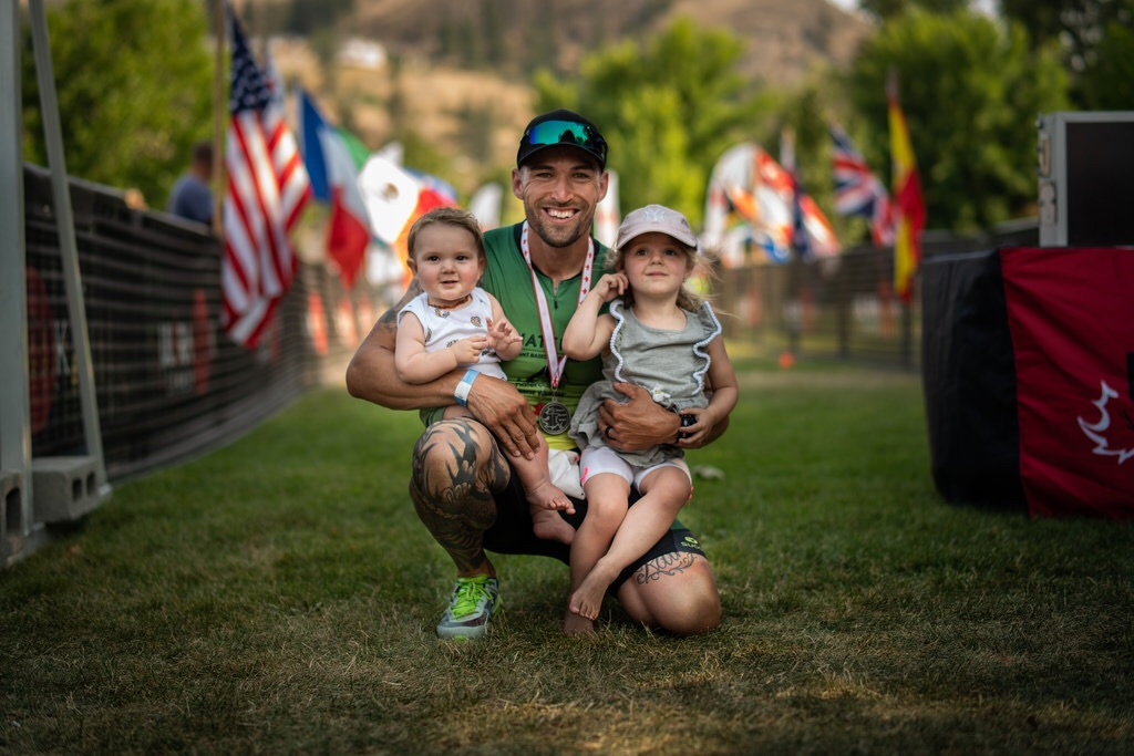These two are my why, my everything. My goal of crossing that final finish line holding these two was complete.