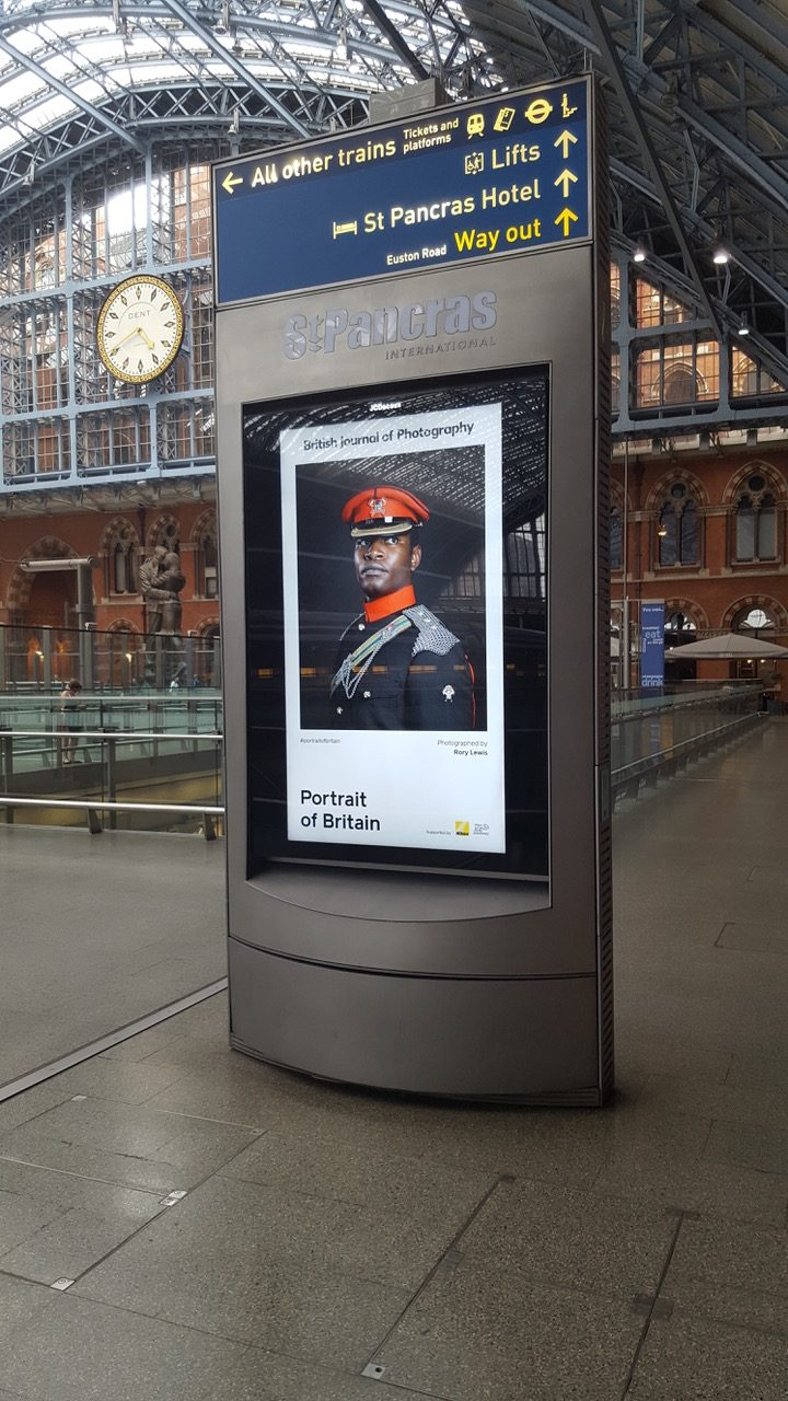Portrait of Britain is presented by British Journal of Photography. Photographer Rory Lewis portrait of Captain Anani-Isaac of The Royal Lancers. Captured for    Soldiery    (British Army Portraits), has been selected to appear in a Nationwide Exhibition.