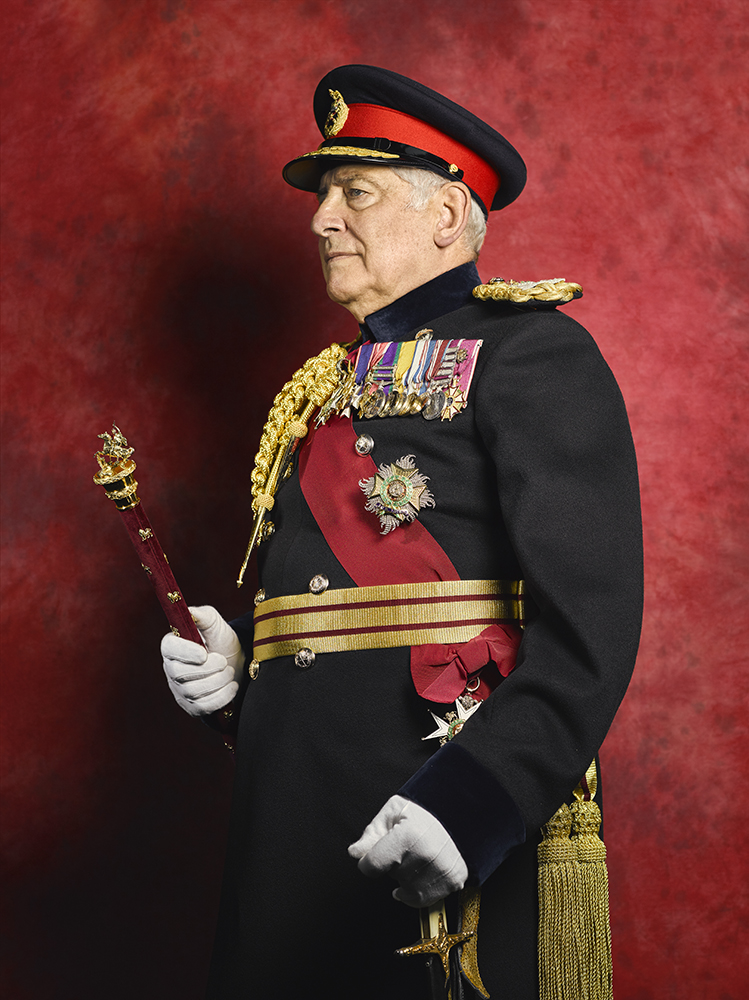 Field Marshal The Lord Guthrie Portrait Sitting (Rory Lewis Photographer 2017) London