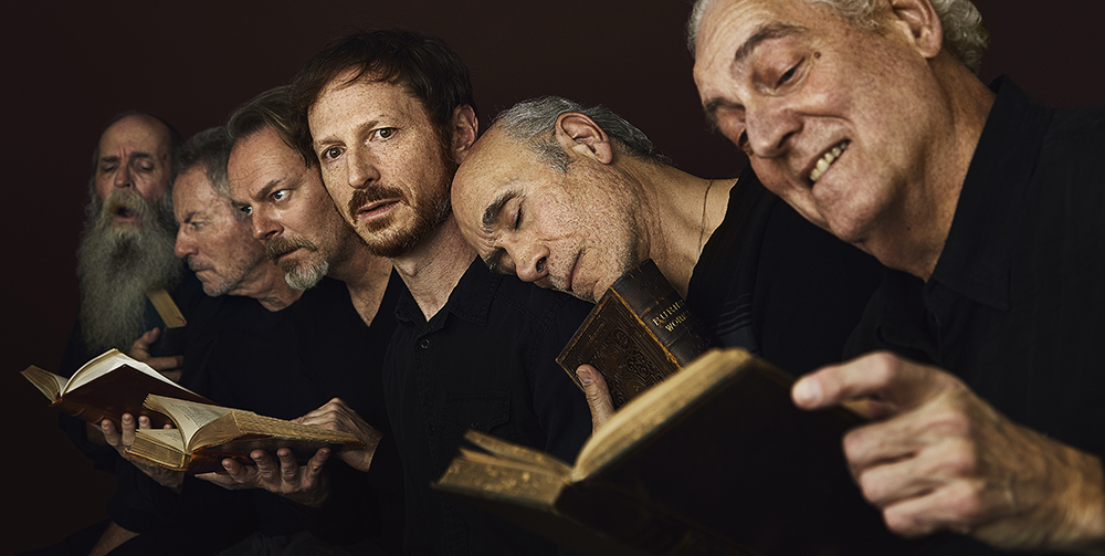 "Recreating Gustave Doré ""The Neophyte"" Peter Van Norden, Tony Amendola, Leo Marks, Bo Foxworth, James Sutorius, Frank Weitzel. Rory Lewis Photographer, Los Angeles."