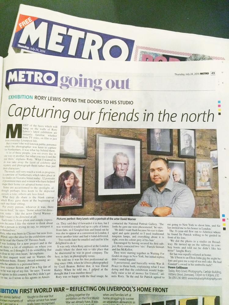 Rory Lewis Metro Interview
