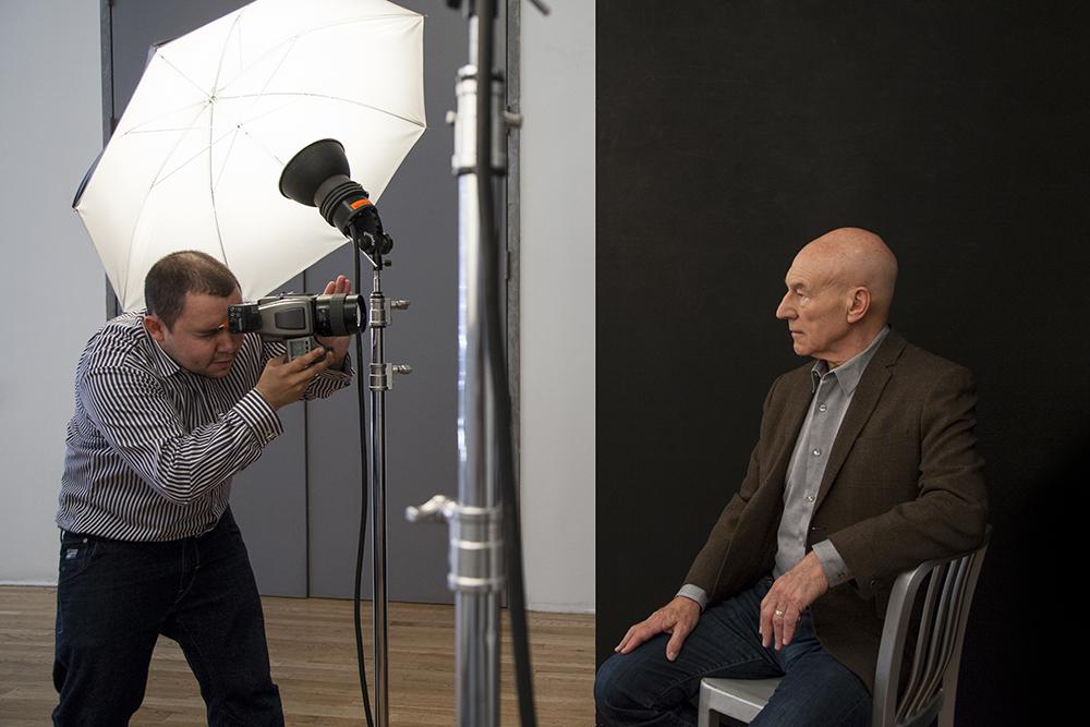 Sir Patrick Stewart Portrait Sitting, (Rory Lewis Photographer 2014)