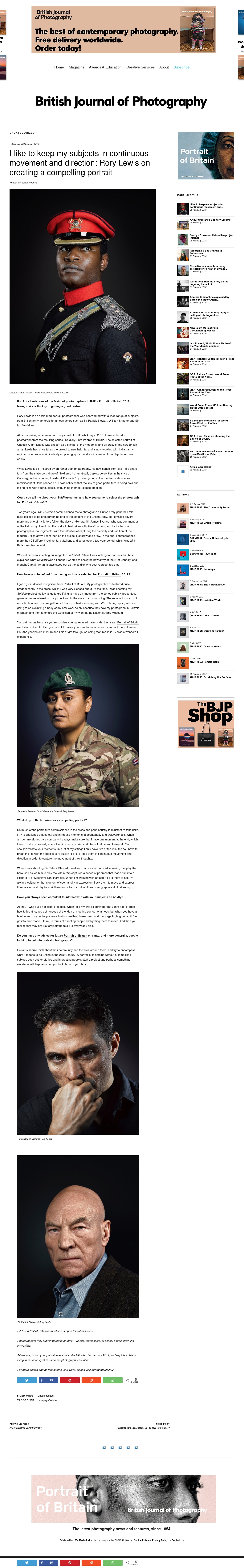 British Journal of Photography February 2018 Interview