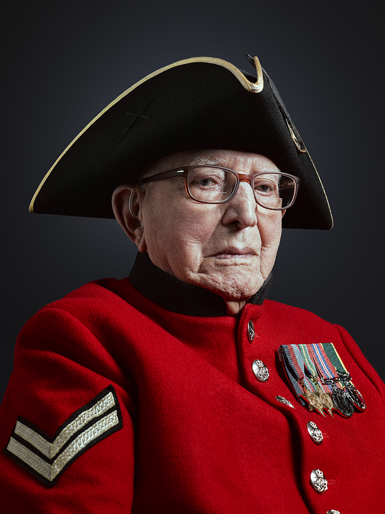 Chelsea Pensioner Dougie Hassall Portrait Commission