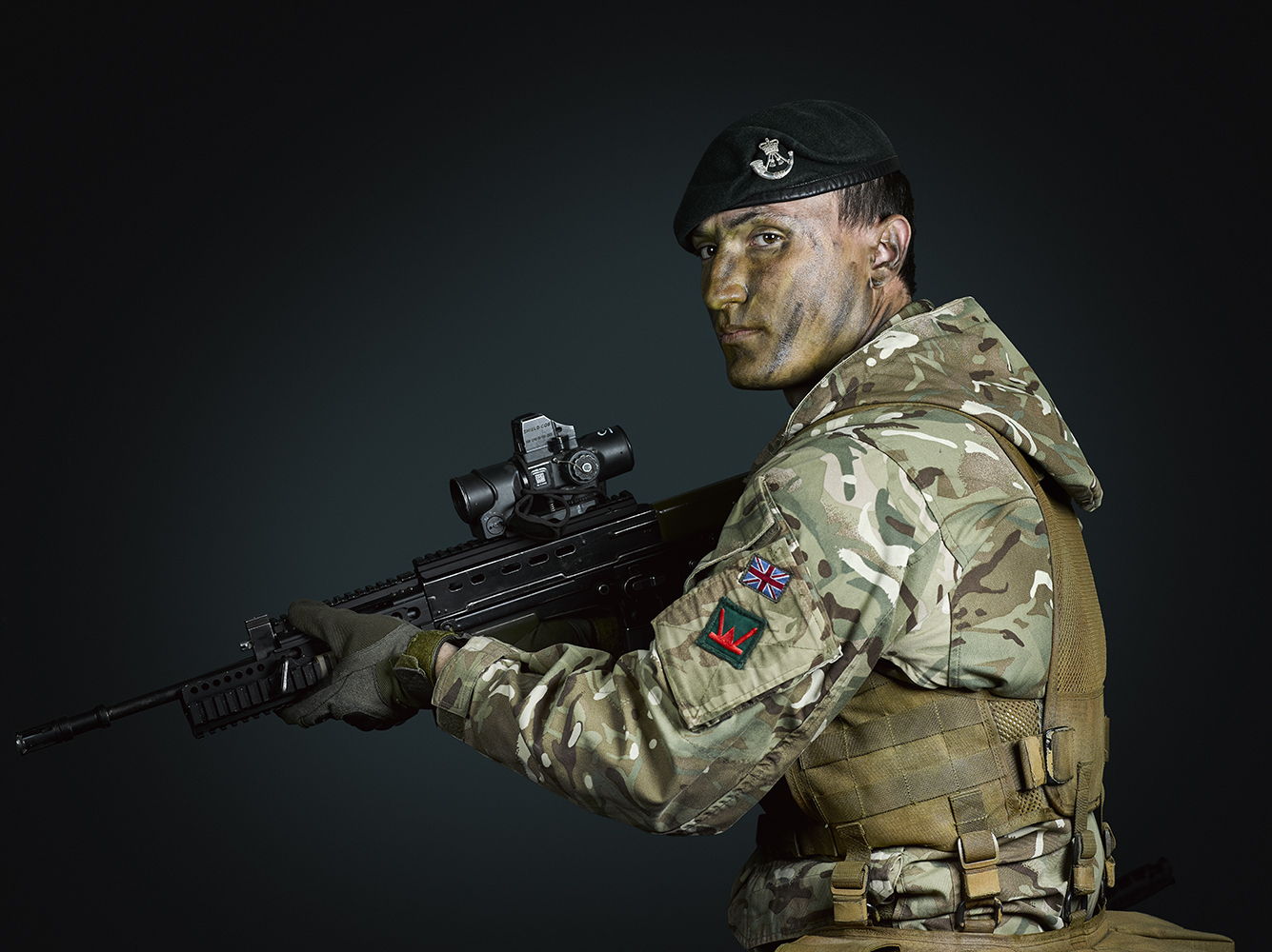 Rifleman Woods 1st Battalion The Rifles (Rory Lewis Photographer 2018) Military Portrait Photographer (London)