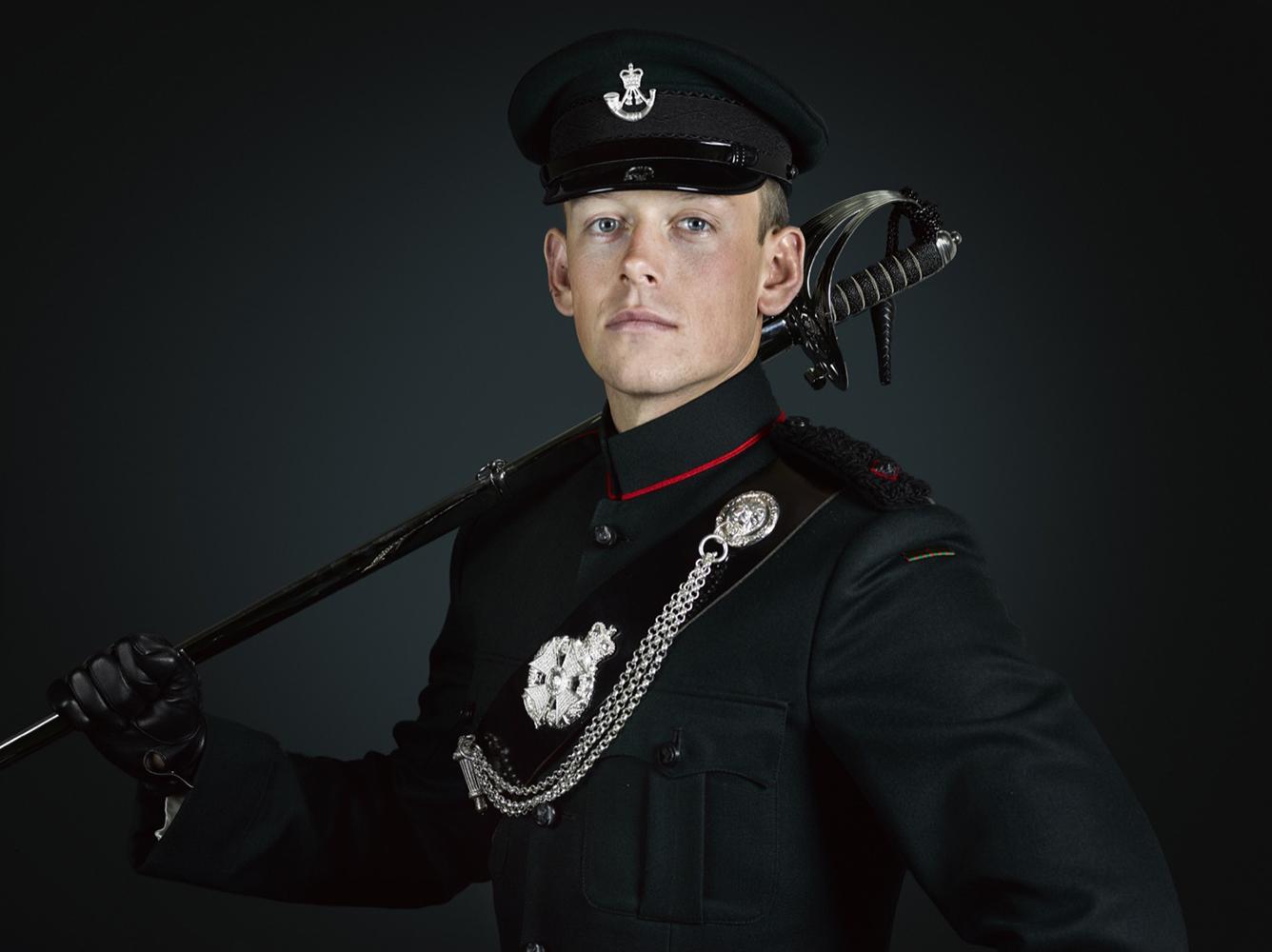 Lieutenant Baldwin 1st Battalion The Rifles (Rory Lewis Photographer 2018) Military Portrait Photographer (London)