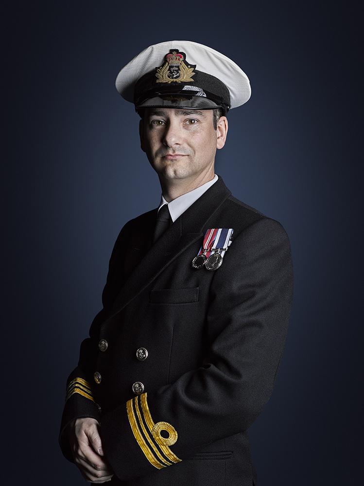 Lieutenant Commander Trewinnard-Boyle Portrait Sitting Military Portrait Photographer London Rory Lewis