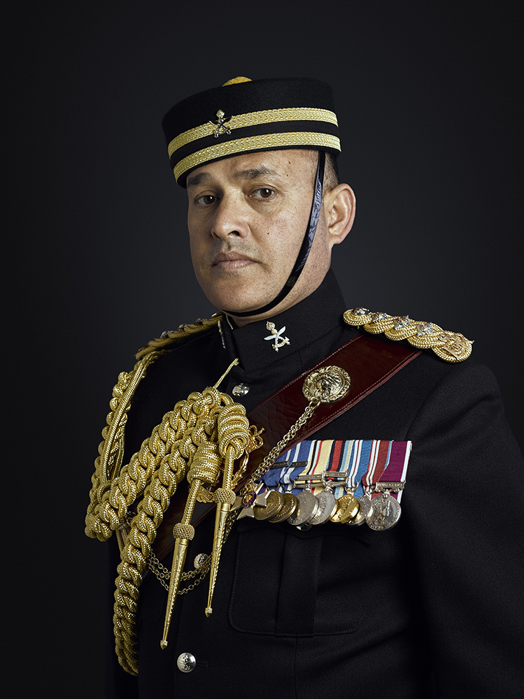 Captain Buddhi Bhandari MVO Portrait Sitting London Military Portrait Photographer Rory Lewis