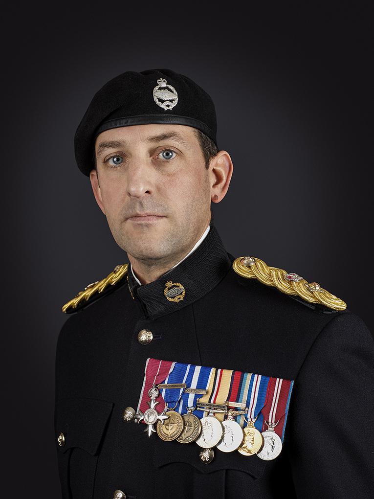Lt Colonel Ridgway (The Royal Tank Regiment) London Military Portrait Photographer Rory Lewis